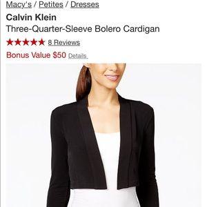 Calvin Klein Jackets & Coats - Calvin Klein three quarter sleeve cardigan